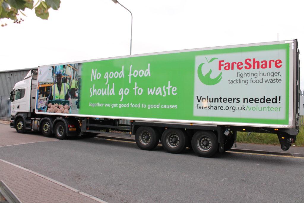 Fowler Welch FareShare lorry