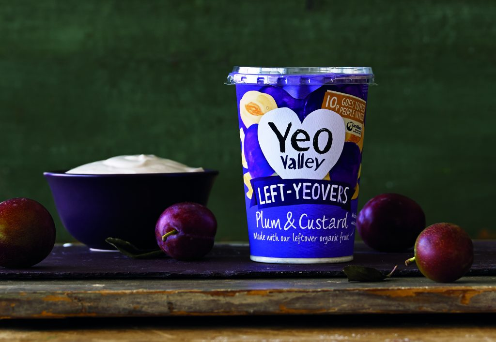 A pot of Yeo Valley leftovers yoghurt made in partnership with FareSare