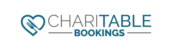 Logo for Charitable Bookings with link to Charitable Bookings website.