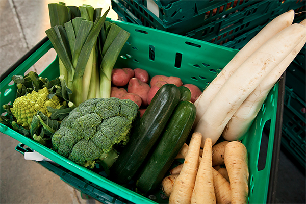 Box of vegetables donated to FareShare