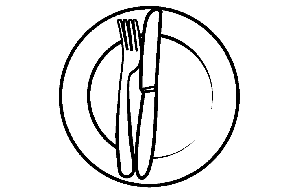 Illustration of an empty plate.