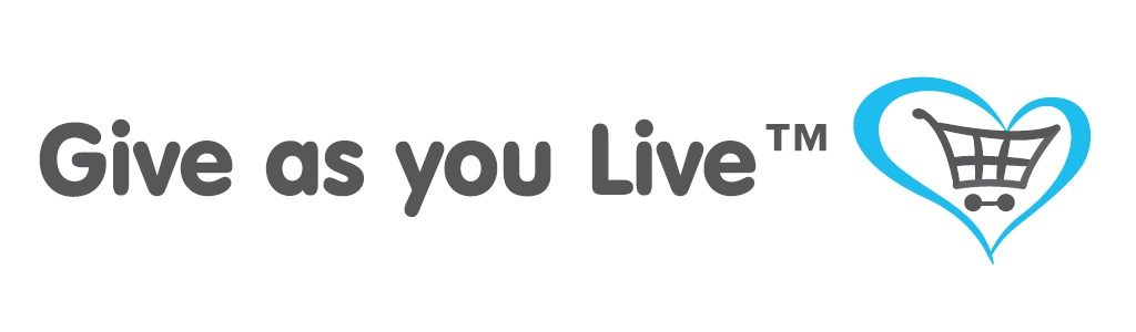 Give as you live logo with link to Give As You Live website.