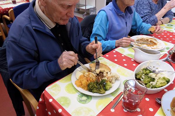 FareShare Cymru South Wales, Morland Star_eating tamar pies 2_jan 17