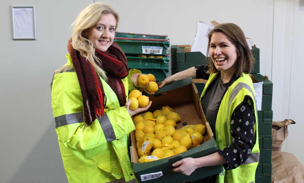 FaeShare Volunteers with lemons