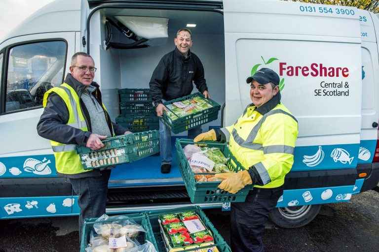 Co-op make a delivery to FareShare Central and South East Scotland