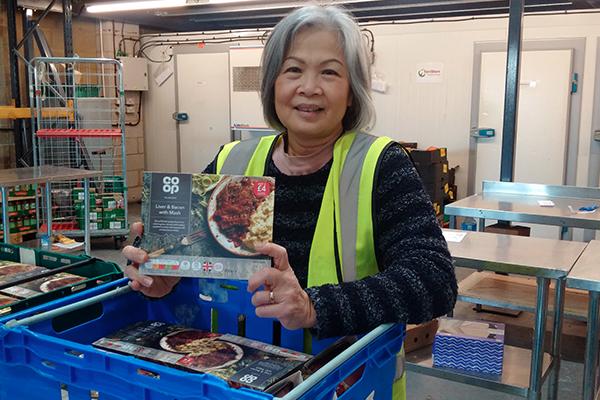 FareShare volunteer with surplus Coop Food