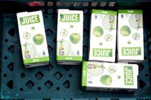 Apple juice cartons