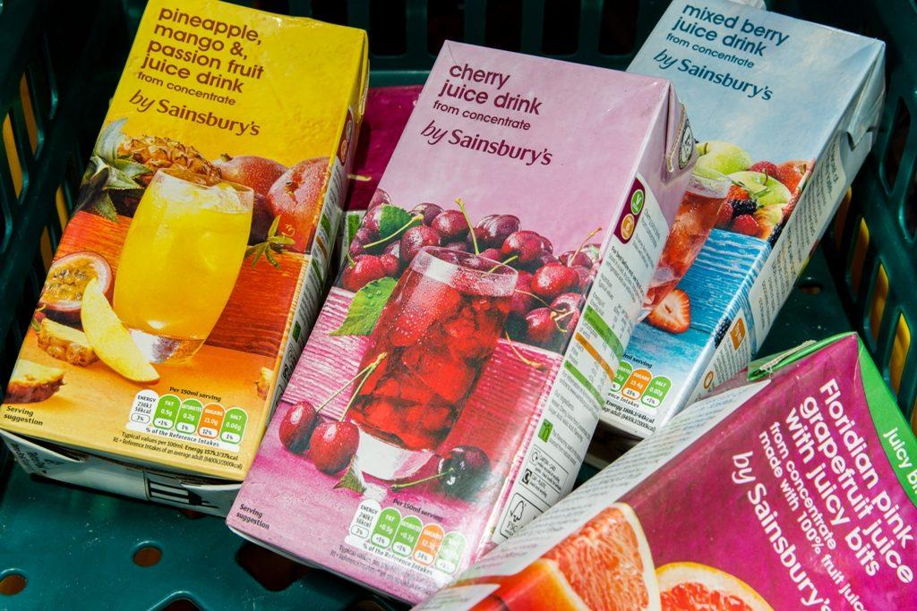 Surplus juice from Sainsbury's