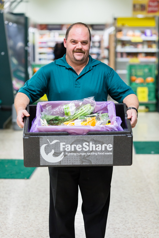 Tesco and FareShare teamed up to launch FareShare FoodCloud. A scheme redistributing store surplus food to charities.