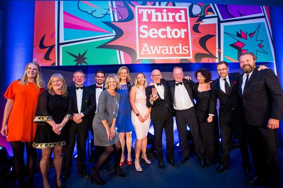 FaereShare winners at Third Sector Awards 2017