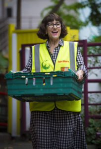 Veronica has been volunteering at the FareShare warehouse in Deptford for a year