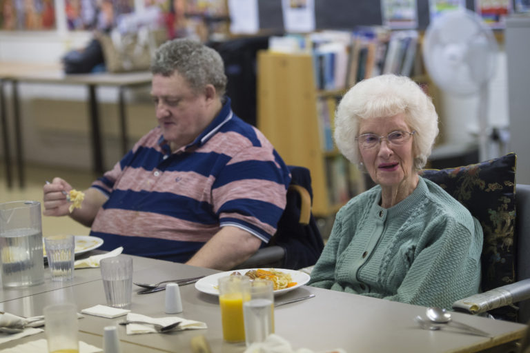 Ivy is in her 80s and comes to Millman Street Community Centre every day for lunch,