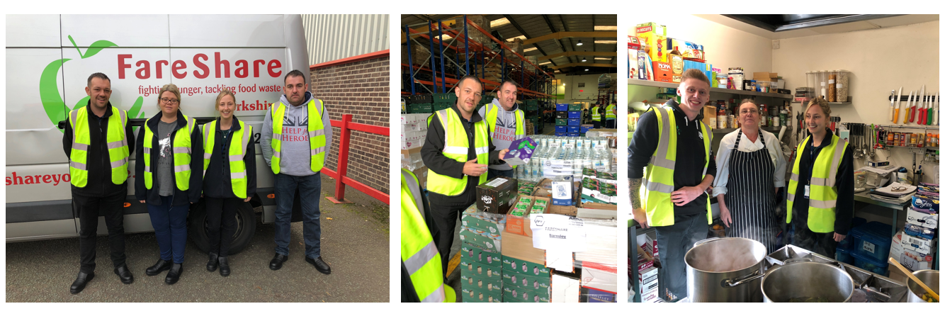 Kerry Foods employees volunteering at FareShare Yorkshire