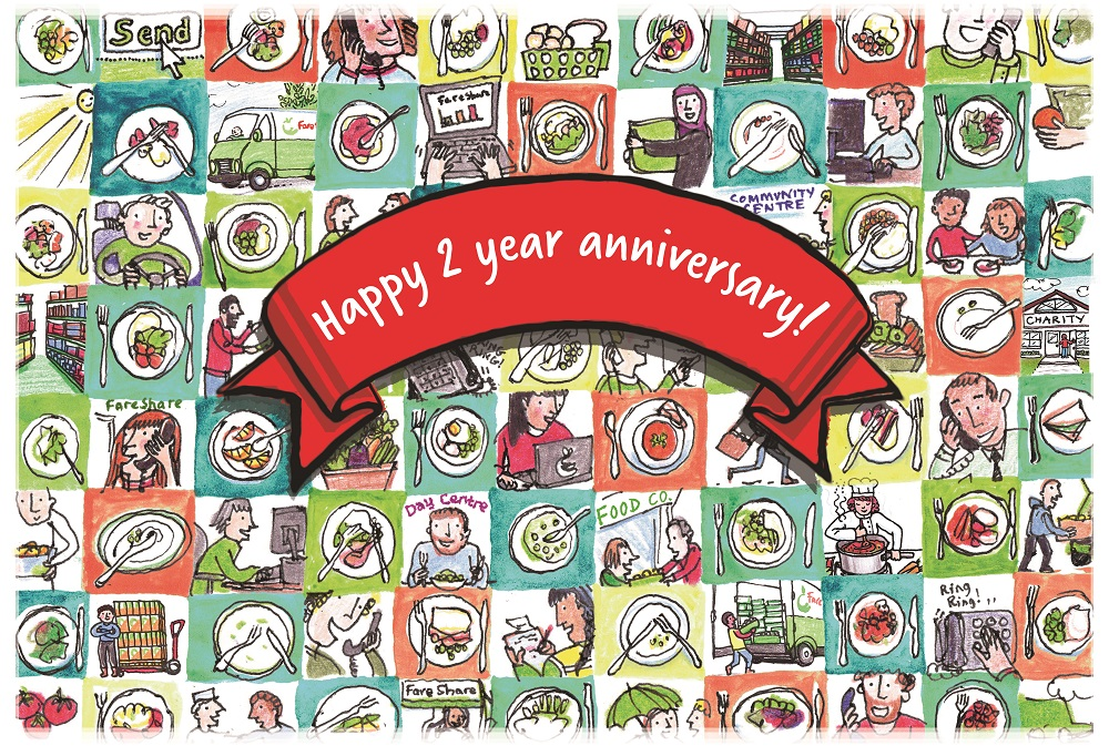 Kerry Foods two year anniversary with FareShare