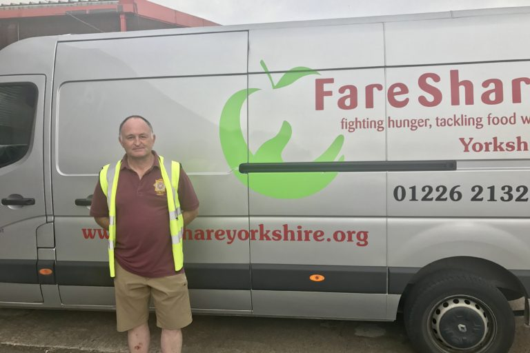 Andy , FareShare driver for Yorkshire Regional Centre