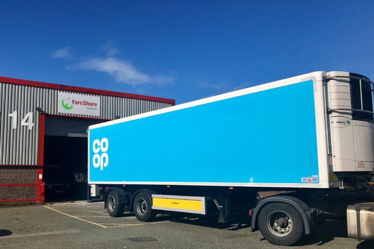 Co-op delivering surplus food to FareShare