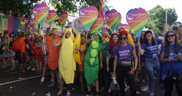FareShare marching at Pride