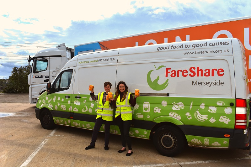 Culina partner with FareShare to save surplus food