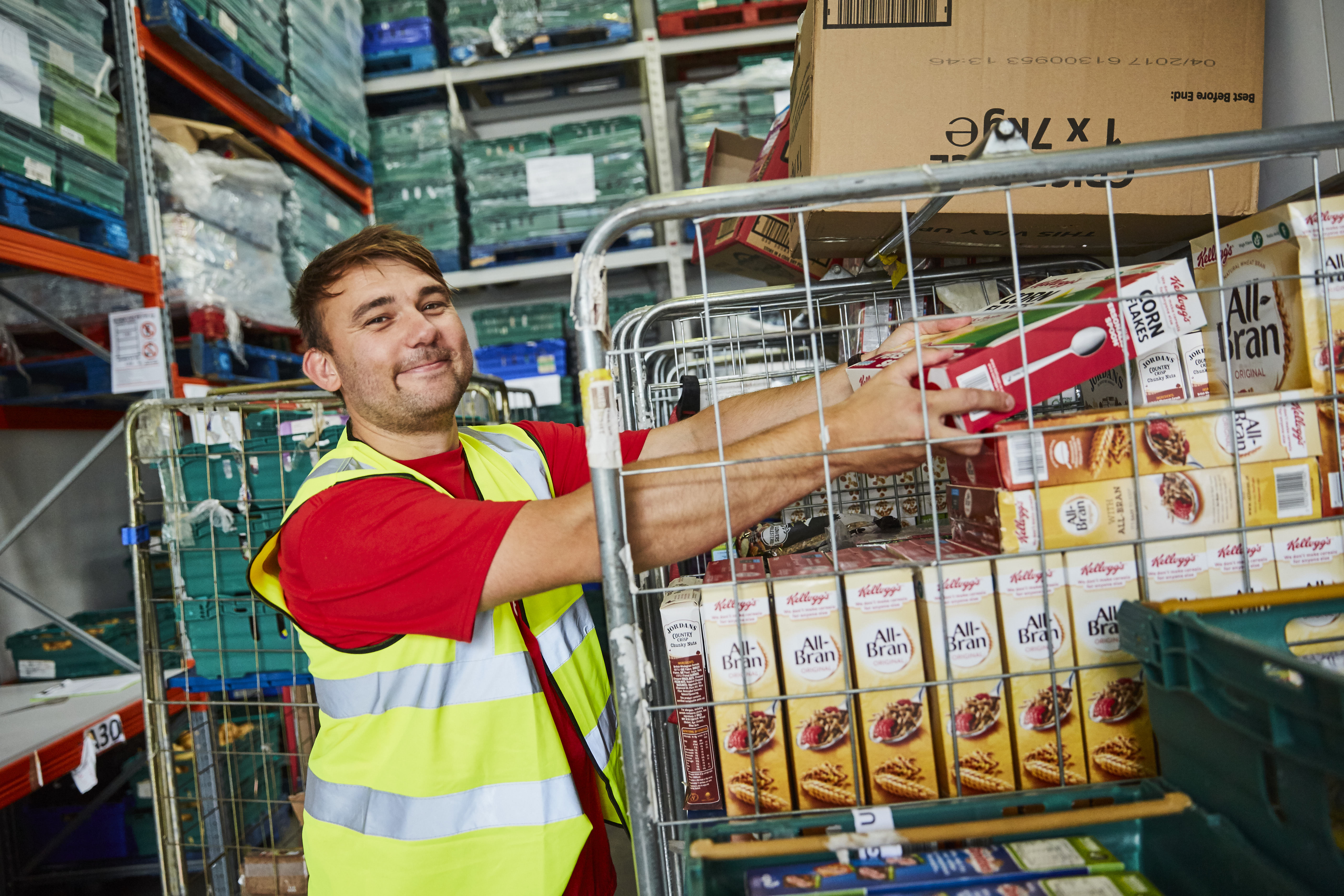 Kellogg's volunteer at FareShare Kent