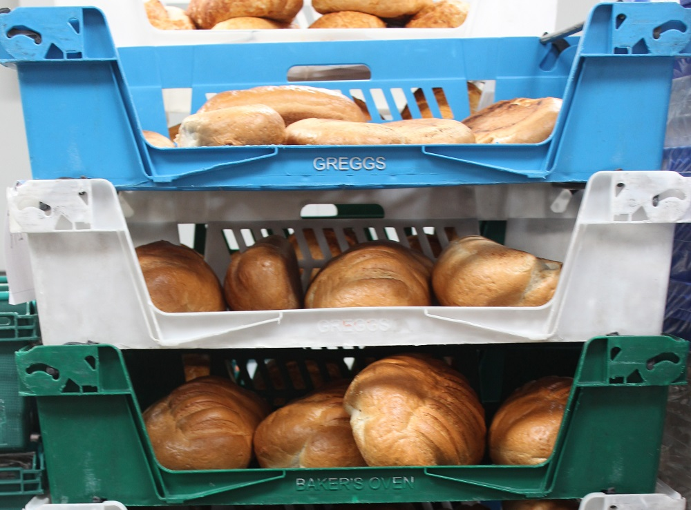 Gregg's bread donated to FareShare
