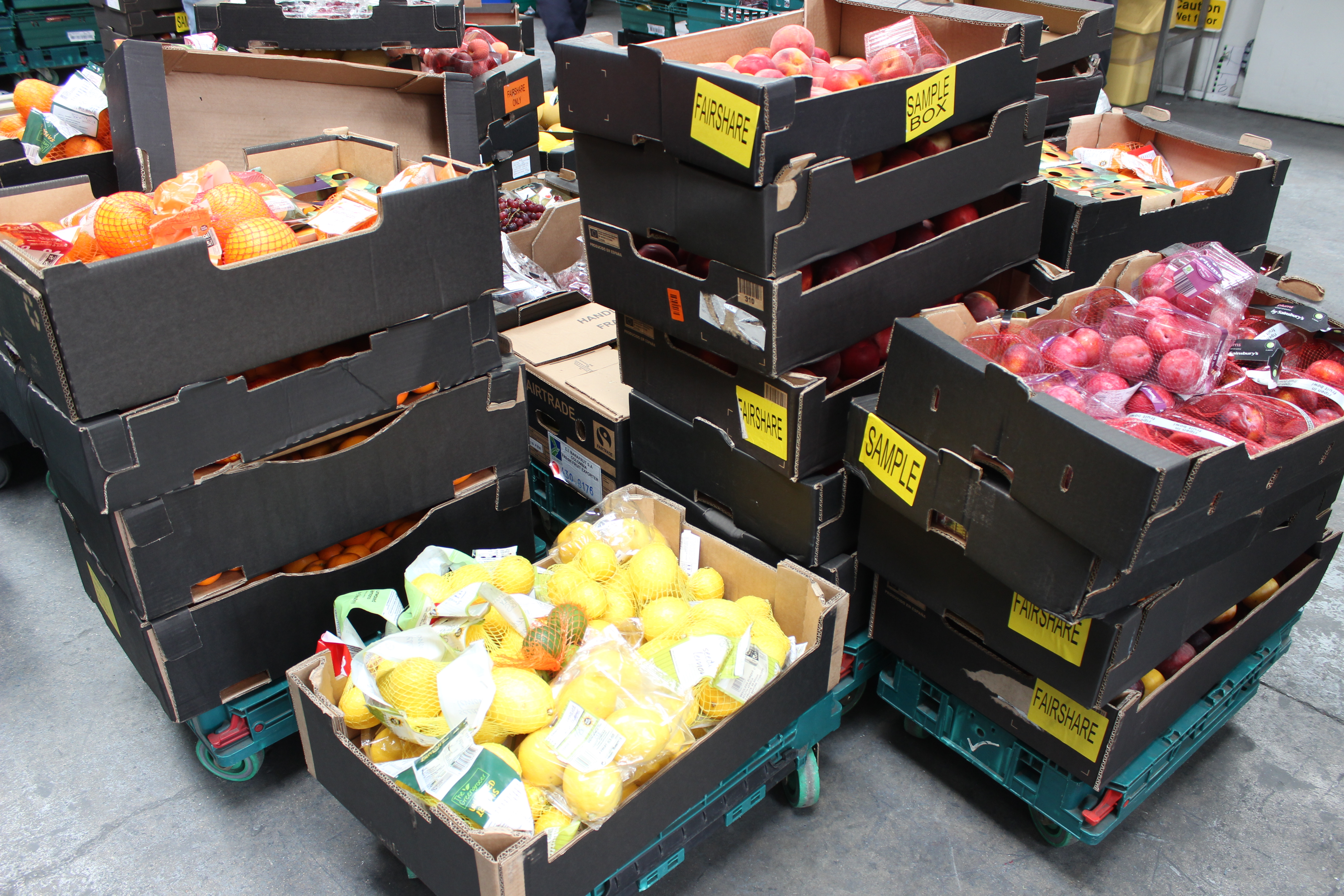 Fruit from Mack at FareShare warehouse