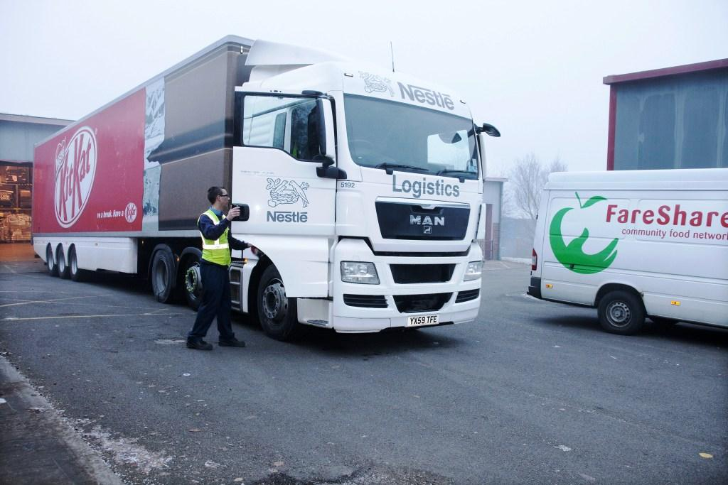 Nestle delivery to FareShare Yorkshire