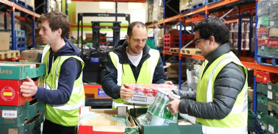 Nestle volunteers at FareShare Yorkshire