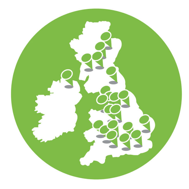 FareShare locations across the UK