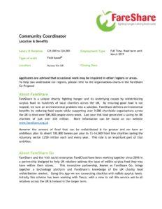 Coordinator Job Description | Community Coordinator Job Description Fareshare