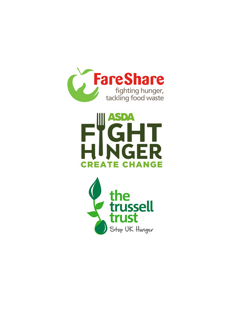 Asda - fight hunger create change logo