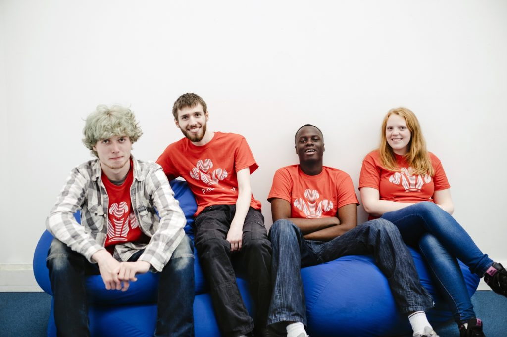 Young people at the Fairbridge project ran by The Prince's Trust
