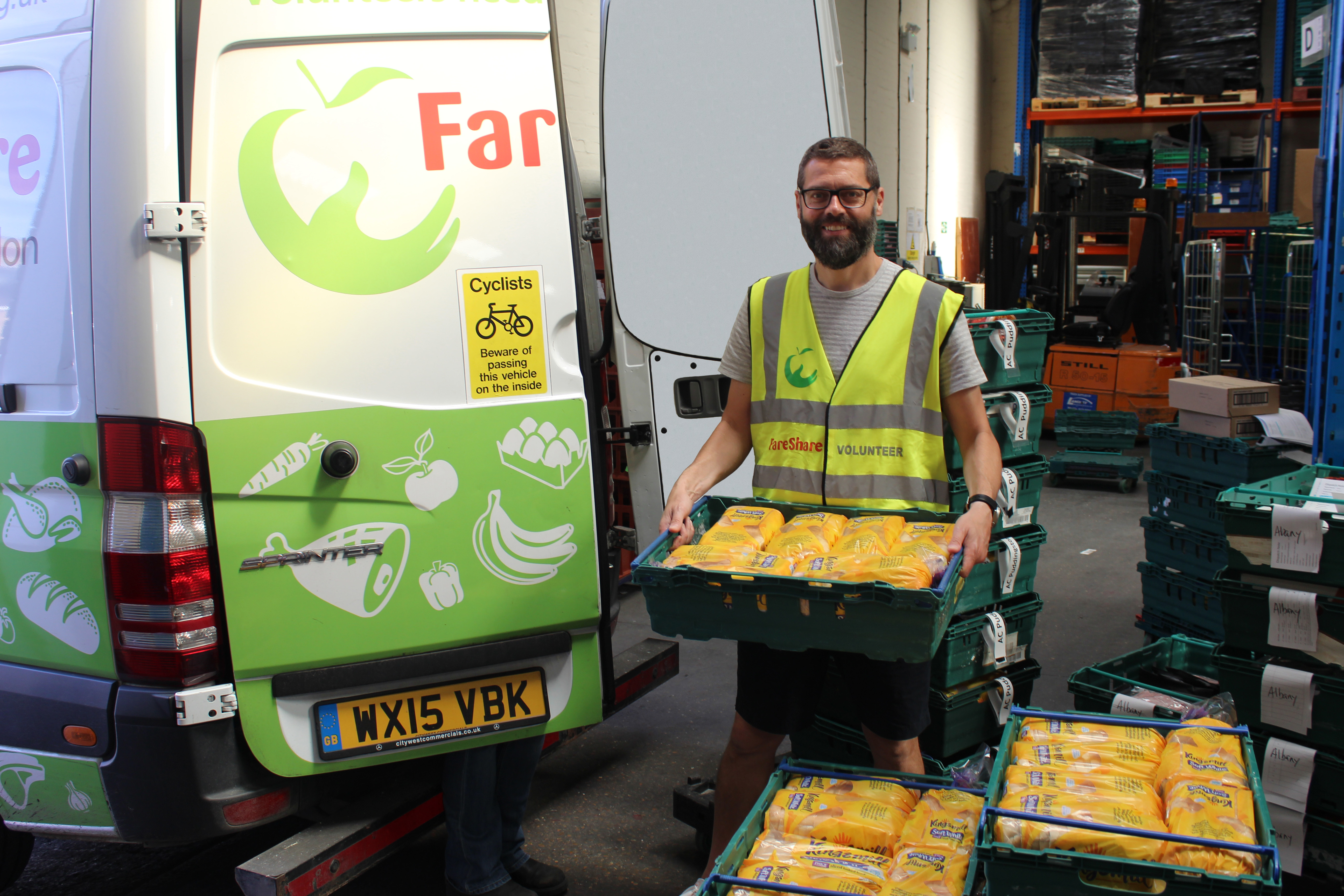 Kingsmill surplus bread from Allied Bakeries at FareShare London