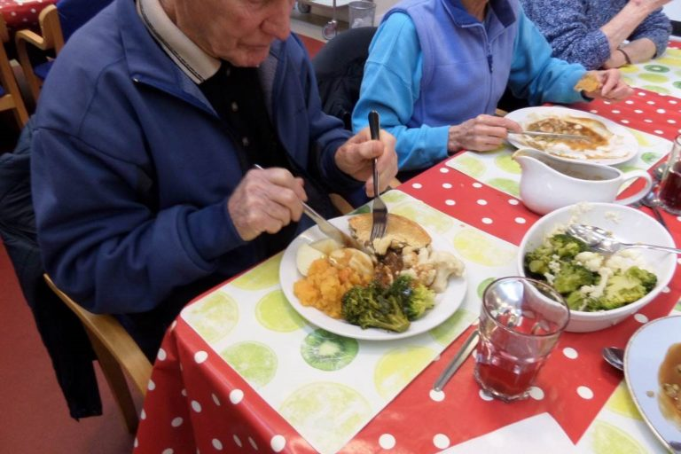Moorland Star community centre users sampled some new steak pies delivered by Fareshare Cymru and everyone said that they were delicious!