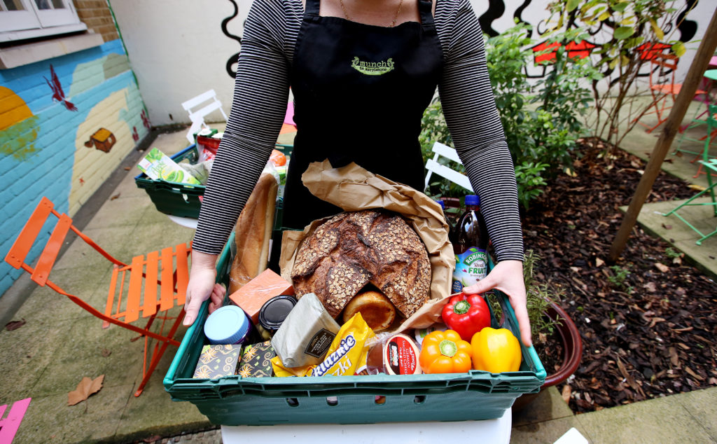 May0080973. The Daily Telegraph. Catering manager Layla is seen holding a tray of donated food at The Marylebone Project, a women's refuge, in Marylebone, London, which benefits from the charity Fare Share. Excess food from supermarkets is distributed by the charity Fare Share to needy people such as the service users of the Marylebone Project, many of whom are vulnerable and homeless women. Fare Share is the UK's largest charity fighting hunger and food waste, and is one of this year's Telegraph Christmas Charity Appeal chosen charities. Tuesday January 16, 2018.