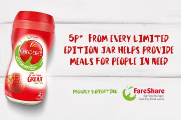 Canderel and fareShare on-pack promotion
