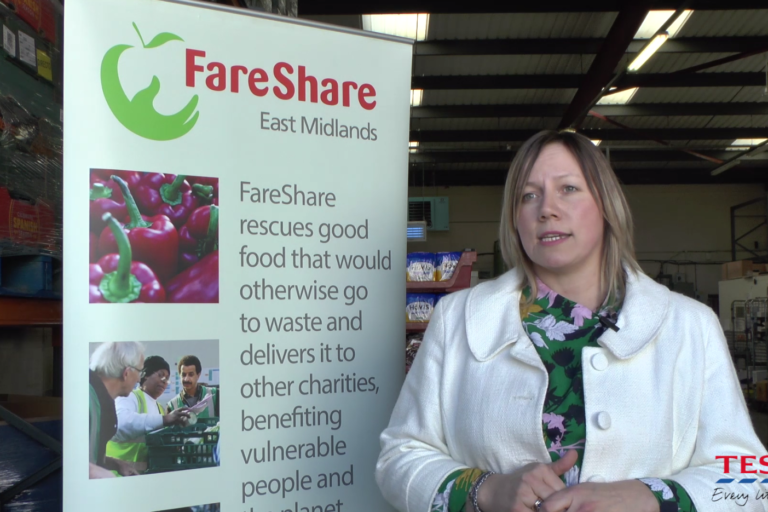 FareShare video, charity food redistribution