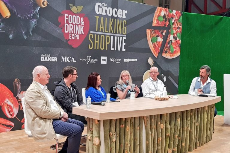 Food waste panel with FareShare CEO Lindsay Boswell at Food & Drink Expo 2018