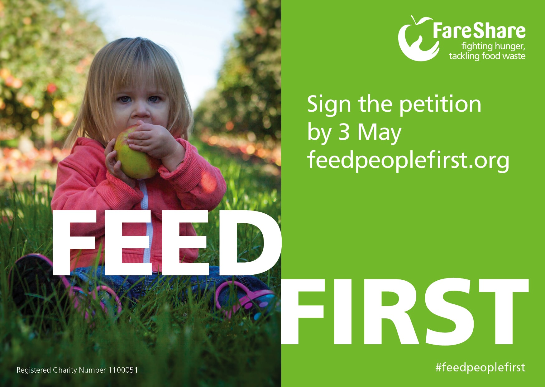 #feedpeoplefirst campaign poster