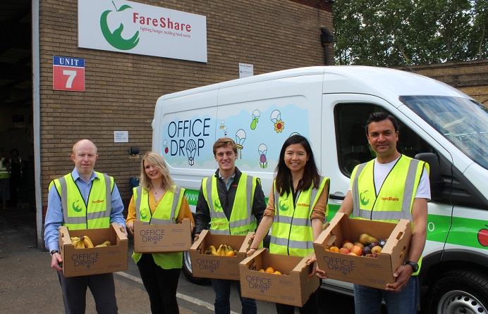 Officedrop and FareShare partnership, fruit