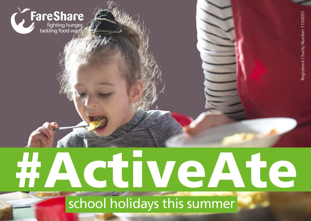 Help FareShare #ActiveAte school holidays this summer.