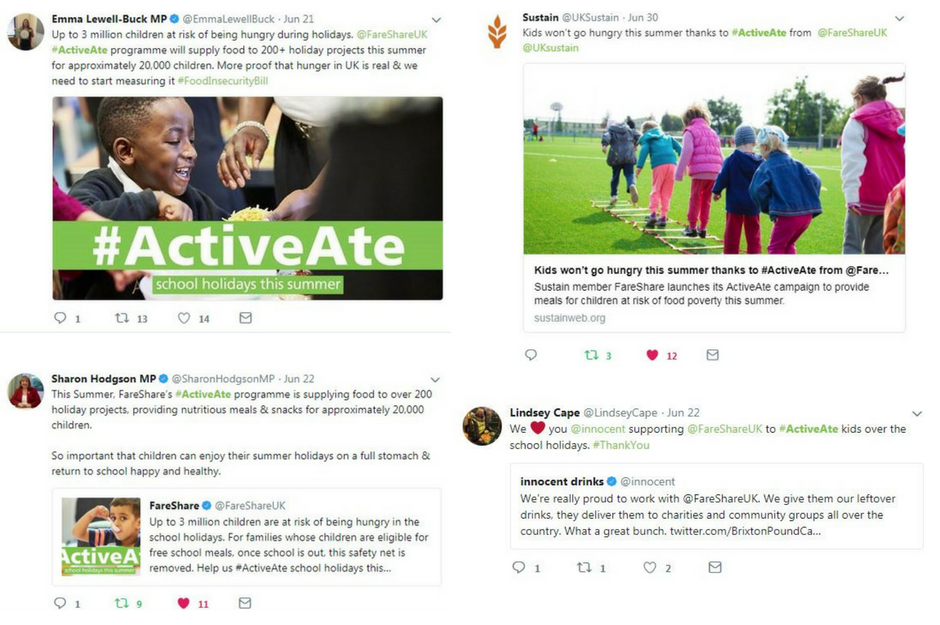 FareShares #ActiveAte campaign receives coverage