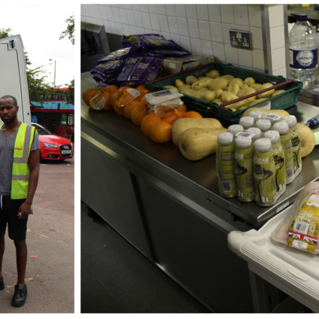 All the lovely surplus food being delivered to Bridge Park Community Leisure Centre