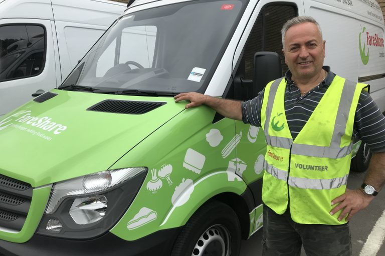 Hasan, FareShare volunteer driver